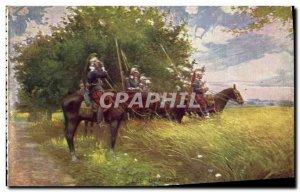 Old Postcard Army Dragons