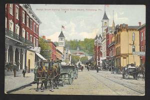 Market St To Court House Kittanning PA Used c1910