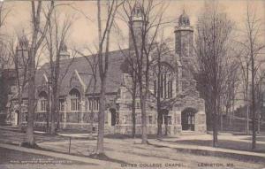 Maine Lewiston Bates College Chapel Albertype
