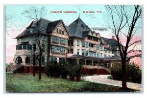 Postcard Pennoyer Sanitarium, Kenosha, Wisconsin 1909 E12