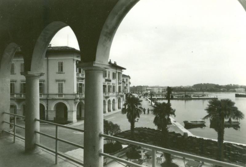 Croatia, Poreč, 1958 used real photo Postcard