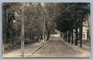 BEACON STREET HYDE PARK MA 1918 ANTIQUE REAL PHOTO POSTCARD RPPC