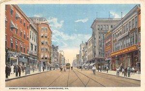 Market Street, Looking West  Harrisburg Pennsylvania, PA