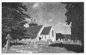 Steep Church Hants Graveyard Postcard