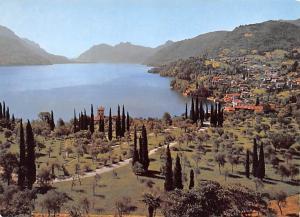 Italy Old Vintage Antique Post Card Lake of Como Bellagio Unused