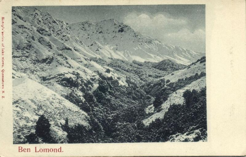new zealand, Queenstown, Ben Lomond Mountain (1899)
