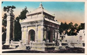 RPPC Tinted Vietnam, Hue, Imperial Tomb, 1930's French Indochina, Annam