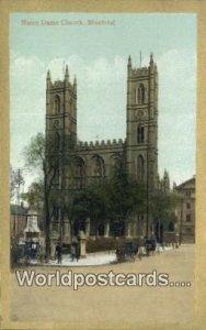 Notre Dame Church Montreal Canada Unused