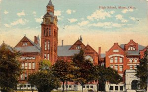 LP01    Akron Ohio High School   Postcard