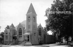 Hampton Iowa~First Congregational Church~1950s Real Photo Postcard~RPPC