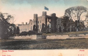 Scone Palace, Perth, Scotland, Early Hand Colored Postcard, Unused