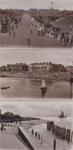 Southsea Sailing Boat Boats 3x Antique Real Photo Postcard s