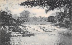 Fairfield Connecticut~The Falls At Mill River~1907 Postcard