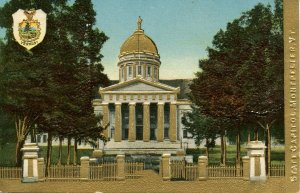 VT - Montpelier. State Capitol  (Gold Foil, Heavily Embossed)