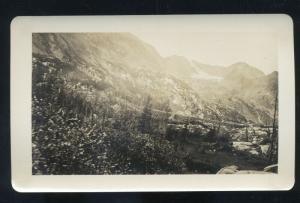 REAL PHOTO PUEBLO COLORADO GOOSE LAKE ARAPAHOE FALLS 4 X 6.5 PHOTOGRAPH