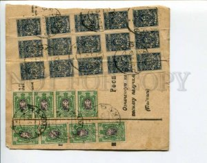 292879 RUSSIA 1919 Bakhmut tear-off coupon from the parcel Denikin army stamps