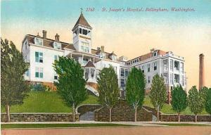 St. Joseph's Hospital, Bellingham, Washington, WA, Divided Back