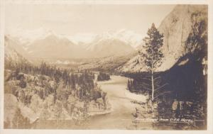 RP; Bow River from C. P. R. Hotel, BANFF, Canada, 20-30s