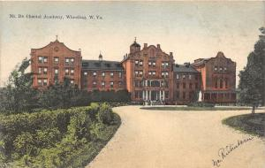 Wheeling West Virginia~Mt De Chantal Academy~Circular Driveway~c1910 Postcard