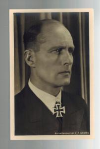 Mint RPPC Germany Kriegsmarine U Boat Commander Hoffman Postcard Karl Merten