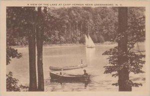 North Carolina Greensboro A View Of The Lake At Camp Herman Near Greensboro A...
