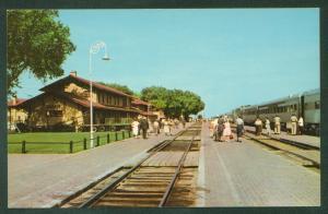 Santa Fe Railway Train Station CLOVIS NM Streamliner Railroad Postcard