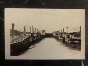 Mint Panama Canal Zone RPPC REal Picture Postcard Main View
