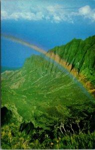 Vintage Postcard Beautiful Kalalau Valley, Kauai, Hawaii CHROME COLOR