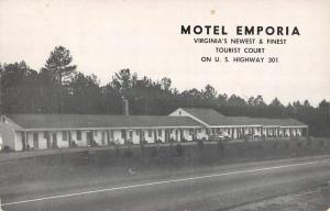 Emporia Virginia Motel Street View Vintage Postcard K86716