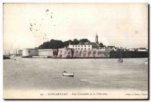 Old Postcard Concarneau Overview of the City close