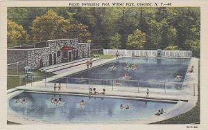 New York Oneonta Public Swimming Pool wilber Park