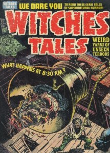 Witches Tales 1950s Comic Book Bellringing Head Decapitation Postcard