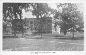 Kennebunk Maine~High School Building & Campus~c1920s Frank W Swallow Postcard
