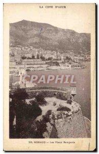 Old Postcard Monaco Les Vieux Remparts