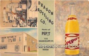 San Antonio, TX, USA Postcard Post Card Dragon Bottling Co, Linen