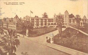 HOTEL ARLINGTON Santa Barbara, California 1915 Vintage Postcard