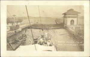 Panama Canal Peter Maguil Locks & Mira Flores Lake Real Photo Postcard