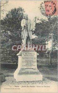 Postcard Old Paris Jardin des Plantes Statue Chevreul