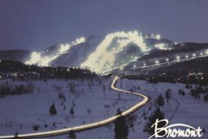 Bromont Ski Center, Night View, BROMONT, Quebec, Canada, 50-70´s
