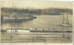 canada, VICTORIA, B.C., View from Empress Hotel, Steamer Princess Victoria 1910