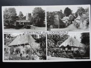 c1953 RP Greetings from Cockington - Multiview - ALL IMAGES SHOWN