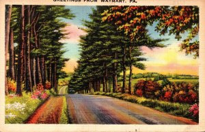 Pennsylvania Greetings From Waymart 1939