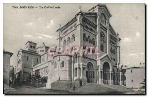 Old Postcard Monaco La Cathedrale