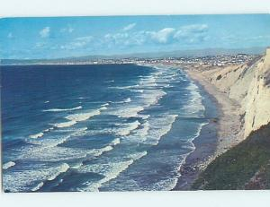 1950's SOUTHERN CALIFORNIA COASTLINE VIEW Postmarked Torrance CA hp4427