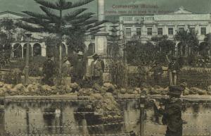 bolivia, COCHABAMBA, Frontis oeste de la Plaza 14 de Setiembre (1910s)