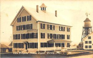 Alfred ME Shaker Village Main Building Built 1913 Real Photo RPPC Postcard