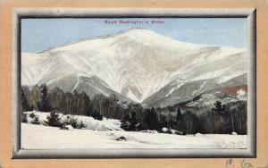 Mount Washington in Winter, 1912 Postcard, Used, Bretton Woods, N.H., Cancel