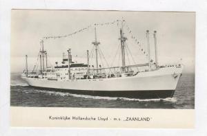 Koninklijke Hollandsche Lloyd - m.s.  ZAANLAND , 1957