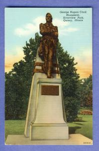 Quincy, Illinois/ILPostcard, Clark Monument/Riverview Park
