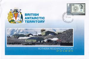 Rothera Research Station British Antarctic Territory Stamp First Day Cover